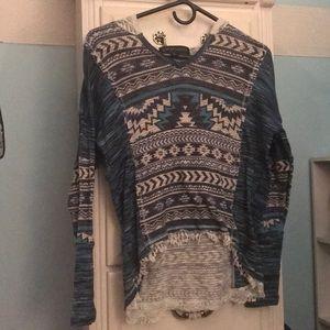 Printed hoodie shirt